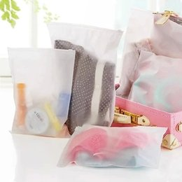 Wholesale 3pcs New Matte Frosted Travel Pouch Storage Waterproof Transparent Ziplock Bag