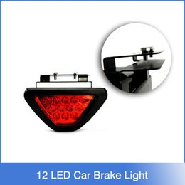 Wholesale F1 Style LED Lamp Car Brake Light Car Reverse light Lamp Vehicle Warning Strobe Flash Light DC12V Red