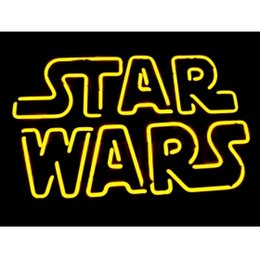 Wholesale-NEON STARWARS SIGN HANDICRAFT REAL GLASS TUBE BEER BAR LIGHT GAME ROOM SHOP 20x15""