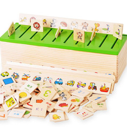 Wholesale New Child Wooden Early Learning Box Shape Classification Education Observation Training Toy LKM01