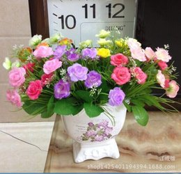 Wholesale 10pcs Silk Artificial Flowers artificial flowers Simulation spend small new low cost direct factory price rose silk Taobao