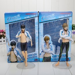 Wholesale 23cm Anime Free Iwatobi Swim Club Haruka Nanase Tachibana Makoto PVC Action Figure Collectible Model Toy
