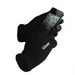 Wholesale-50pairs lot iGlove Capacitive Touch Screen Gloves For Iphone ipad Samsung Unisex Full Finger Touch Screen Gloves