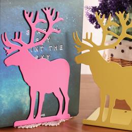 Wholesale Cute cartoon characters milu deer bookend Desktop finishing a book iron bookend