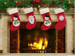 Wholesale Child Christmas Stockings - Hot Christmas gifts for children christmas stockings socks decoration cute Candy Bag socks christmas Tree Ornaments decorations
