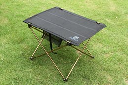 Wholesale Outdoor Camping Portable Aluminium Alloy Tables Waterproof Ultra light Durable Folding Table Desk For Picnic g order lt no track