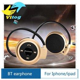 Wholesale Mini Wireless Bluetooth Headphone Stereo Handsfree Sports Music Earphone Headset for Iphone s s Ipad Samsung S6 S5 HTC Apple Earbuds