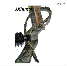 1piece lot Archery hunting compound bow Braided bow sling,aluminum mounting,TP312 wrist sling for hunting