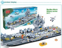 Wholesale Banbao Army Series Air Carrier Blocks Classic Boy Bricks m Length Building Block Toy Minifigures