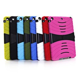 Wholesale best selling tablet hard stander case cover PC silicone anti slip fashion colorful armor defender case for ipad Air ipad mini