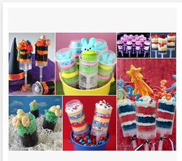 Wholesale Cake Push mold cake plastic cup food propeller ice cream cone cup novelty cake decorating love and round shape C1201