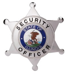 Wholesale STATE OF ILLINOIS SECURITY OFFICER METAL BADGE