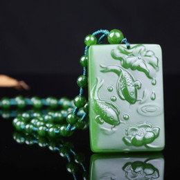 China Beautiful Natural Jadeite Pendant Gift Best Offer Christmas Present Free Shipping AA11