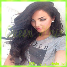 Full Lace Human Hair Wigs Virgin Hair Brazilian Body Wave Lace Front Wigs Natural Black Color Brazilian Virgin Hair Bliss Wig