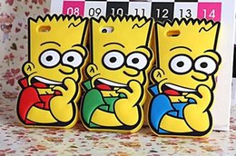 Wholesale Cute Bart silicon Simpson case cartoon protective soft back case cover For s plus
