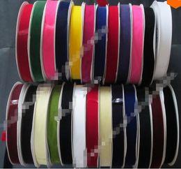 1'' 25mm nylon velvet ribbon None - Elastic single faced webbing velvet ribbons spool DIY accessories 240 colors 125yards.