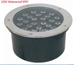 Wholesale-AC220V red green blue white yellow 24x1w 24W led underground lamp underwater light DHL free shipping 4pcs lot
