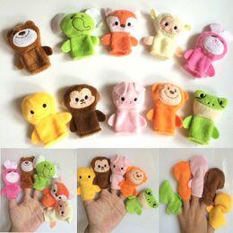 Wholesale 2015 New Cartoon Animal Finger Puppets Toys set Plush dolls the Finger Puppets Educational Toys Storytelling Dolls