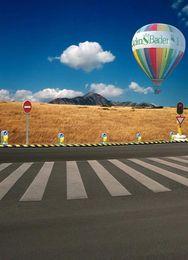 Wholesale 5feet feet background Hot air balloon alpine meadow photography backdropsvinyl photography backdrop LK