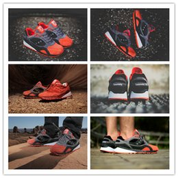 Wholesale Premier x Saucony shadow Life of Mars Pack Dark Grey Orange Unisex Sports Running Shoes Womens And Mens Jogging Shoe