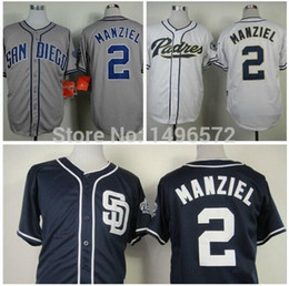 2017 johnny maillots manziel 2016 Nouveau San Diego Padres Jersey 2 Johnny Manziel Maillots Blanc Gris Bleu Cool Base Stitched authentique Baseball Jersey broderie Logo peu coûteux johnny maillots manziel