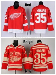 Wholesale Factory Outlet Detroit Red Wings Ice Hockey Jerseys Jimmy Howard Jersey Winter Classic Red Cheap Jimmy Howard Authentic Stitched Je