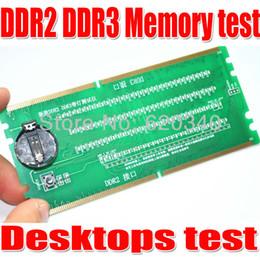 Wholesale-Free Shipping Desktop DDR2 DDR3 Memory RAM Slot Tester with LED DDR2 DDR3 Slot Tester for Desktop Motherboard