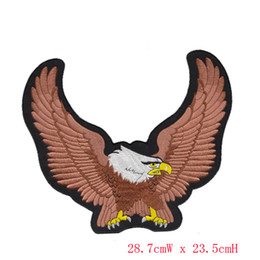 free shipping Biker Iron On Patch Eagle Motorcycle Embroidered Patches Badge Appliques Embroidery Biker Patch For Back of Jacket