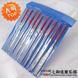 A set Guitar DIY Repair Tool Diamond Files,Precision Needle Hand Files For Guitar Nut & Saddle,10 Different Shapes