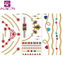 attoo Body Art Temporary Tattoos NEW ARRIVAL Body art chain gold tattoo temporary tattoo flash tattoo metallic tattoo jewelry temporary s...