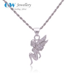 Wholesale Angel pendants silver sterling floating for necklace European style FPETV208NO8
