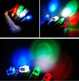 Promotion laser conduit doigts LED lumières de Noël magiques Lumières Finger Finger lumières laser annulaire éblouissante lumière laser Fingers Poutres Parti flash Jouets LED Lumières Jouets