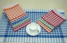 Wholesale 100 Cotton Check Plain Kitchen Towel Dishcloth Set Dusting Towels Tea Towels Kitchen Cloths