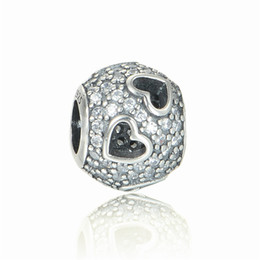 European charms beads heart sets fits pandora jewelry charms bracelets European fashion style free shipping