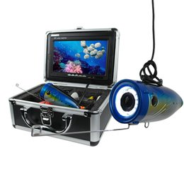 """EMS free shipping 15M Cable HD 600 TVL 7"""" TFT Color LCD Underwater Fishing Camera Fish Finder DVR Record Video 6 pcs White LEDs"""