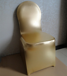 Wholesale 2015 Charming Amazing Gold Or Silver Chair Covers Custom Made Hair Sashes High Quality Wedding Supplies Exquisite Cheap