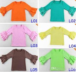 Girls Wear Harem tops Chidlren 2Layer ruffle shirts Girls Ruffle tutu tops 14Colors Choose Freely 5Size for 1-8T
