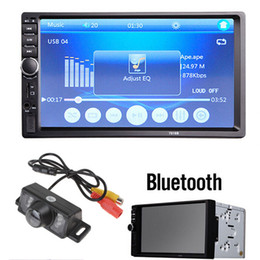 Wholesale 7 Inch LCD HD Touch Screen Bluetooth Car Stereo FM MP3 MP5 Radio Player Double DIN In Dash CMOS Camera CMO_20E
