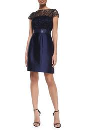 Lace Patchwork Women A-Line Dress Fashion Sequins Dresses 121581
