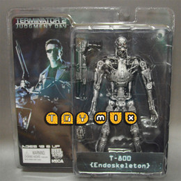 Wholesale Brand New Terminator T800 Endoskeleton With machine carbine quot PVC Figure children kid gift Toy