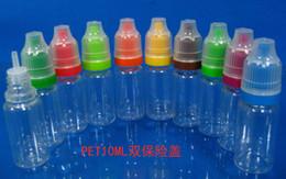 Dropper Bottle 10ml childproof & tamper proof cap PET drop bottle free shipping by DHL, plastic bottle