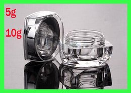 Wholesale crystal clear Cosmetic g g packaging bottles of cream can eye cream jar lotion bottles empty bottle