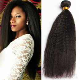 7A Mongolian Kinky Straight Virgin Human Hair 3 Bundles 100% Carse Yaki Virgin Human Hair Large In Stocks