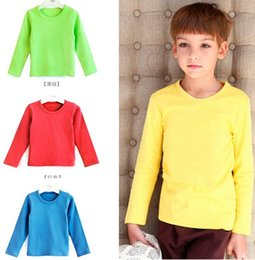 Wholesale DHL Boys modal Tees kids blank short sleeve t shirts plain solid pure color for years old