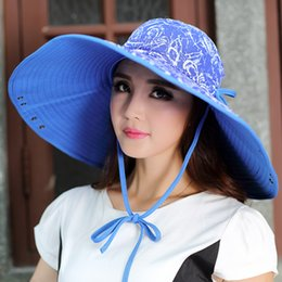 New Unique Fashion Women Wide Brim UV Sun Hat Foldable Washable Large 17cm Brim Hat Double-sided Hiking Fishing Caps