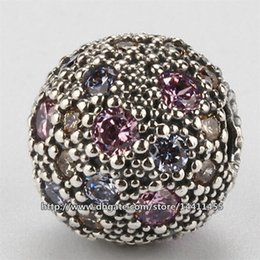 Pink Cosmic Stars Clip Charm 100% 925 Sterling Silver Bead Fits European Pandora Jewelry Bracelets & Necklaces
