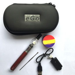 Glass Globe Wax Vaporizer Pen Starter Kit With eGo T Battery Silicone Wax Containers Glass Bongs Kit Free Shipping