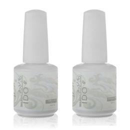 Wholesale-IDO 15ml Soak Off UV LED Nail Gel Polish Foundation Base Coat and Top Coat Top it Off
