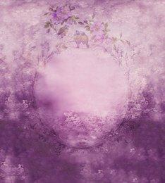 5*6.5FT Custom Children Backgrounds Photography Backdrops Purple Flowers Fotografia Thin Cloth Vinyl Backdrops For Photography