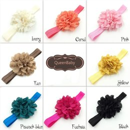 Baby Hair Accessory Eyelet Flower Headbands On Shimmer Fold Over Headbands For Newborn Baby Toddlers 120pcs lot